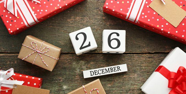 Boxing Day 2020 Observed on Monday 28th December 2020