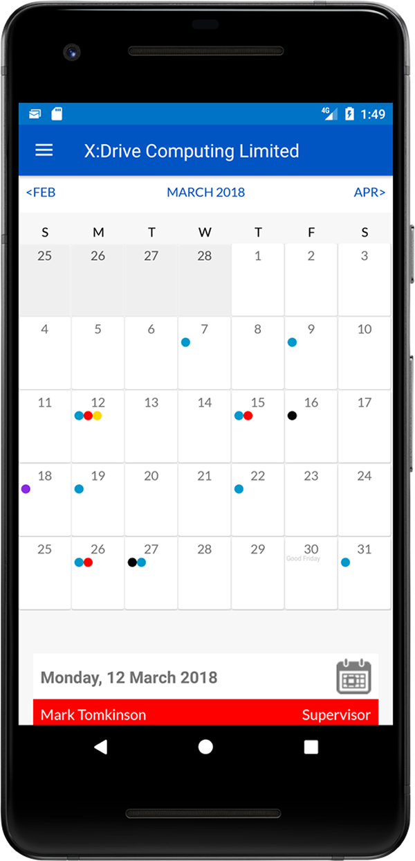 WhosOff calendar (Android)